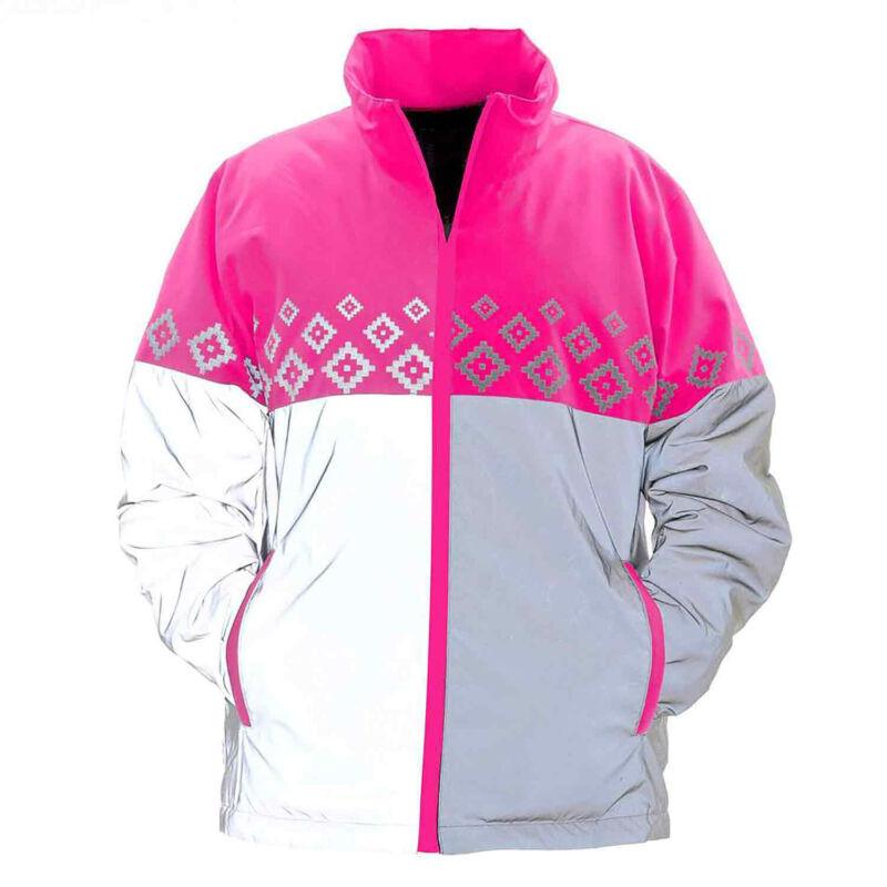 Equisafety Luminosa Kids Safety Wear Reflective Jacket - Pink One Size