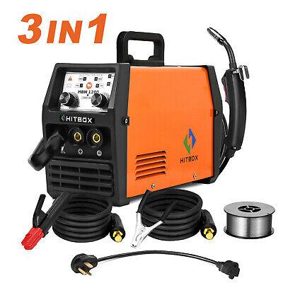 3in1 Mig Welder 120amp 110220v Dual Volt Stick Arc Lift Tig Mig Welding Machine
