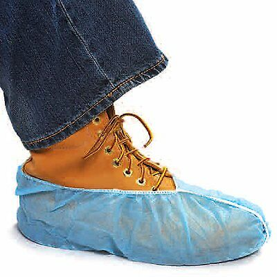 50 DISPOSABLE SHOE COVERS NON-SKID BOOTIES WORKERS AND REALTORS /XL 4 To Size 16