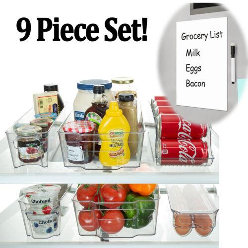 Refrigerator Organizer Bins Stackable Fridge Storage Contain