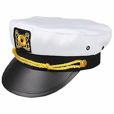 Sailor Costume Hat (Hugh Hefner Captain Hat Adult Playboy Yacht Sailor Boat Costume Accessory)