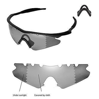 9afcf86ffe73 Polarized Transition Vented Replacement+Black Nosepads for Oakley M Frame  Sweep