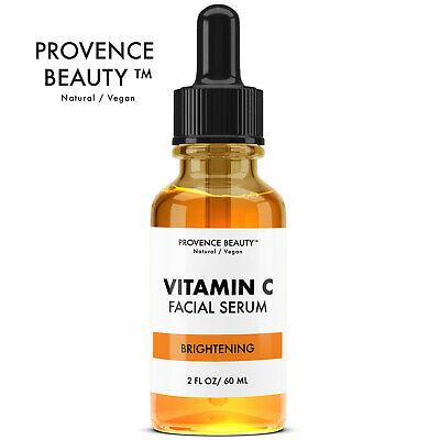 Provence Beauty Instant Brightening Vitamin C Facial Serum for Dark Spots 2oz
