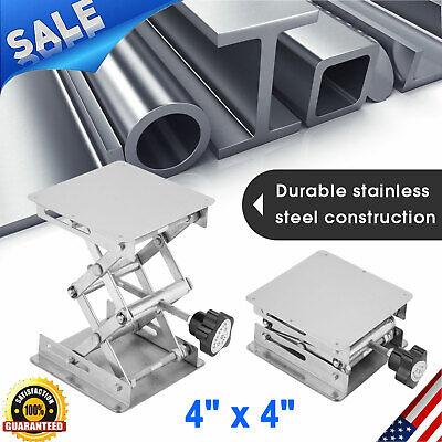 4 Stainless Steel Lifting Platform Lab Lifter Stand Rack Scissor Lab Jack Usa