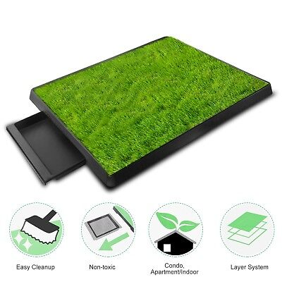 "25""x20"" Puppy Pet Potty Training Pee Indoor Toilet Dog Grass Pad Mat Turf Patch"