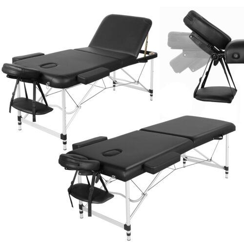 Massageliege Mobil Massagetisch Massagebank klappbar Therapieliege Alu 2/3 Zonen
