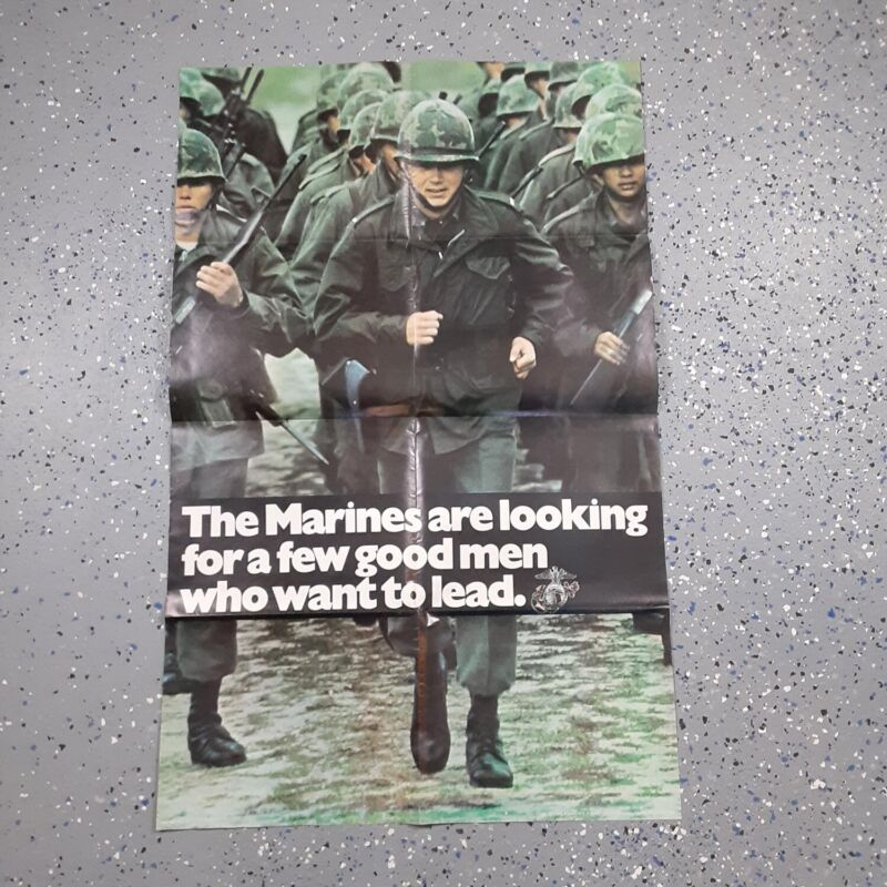 Authentic LARGE Original U.S. Marine Corps (Officer Programs) Poster (1973)