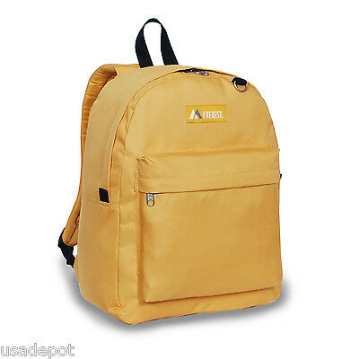 Everest Luggage Classic Backpack School Trip Carry-on - Yellow