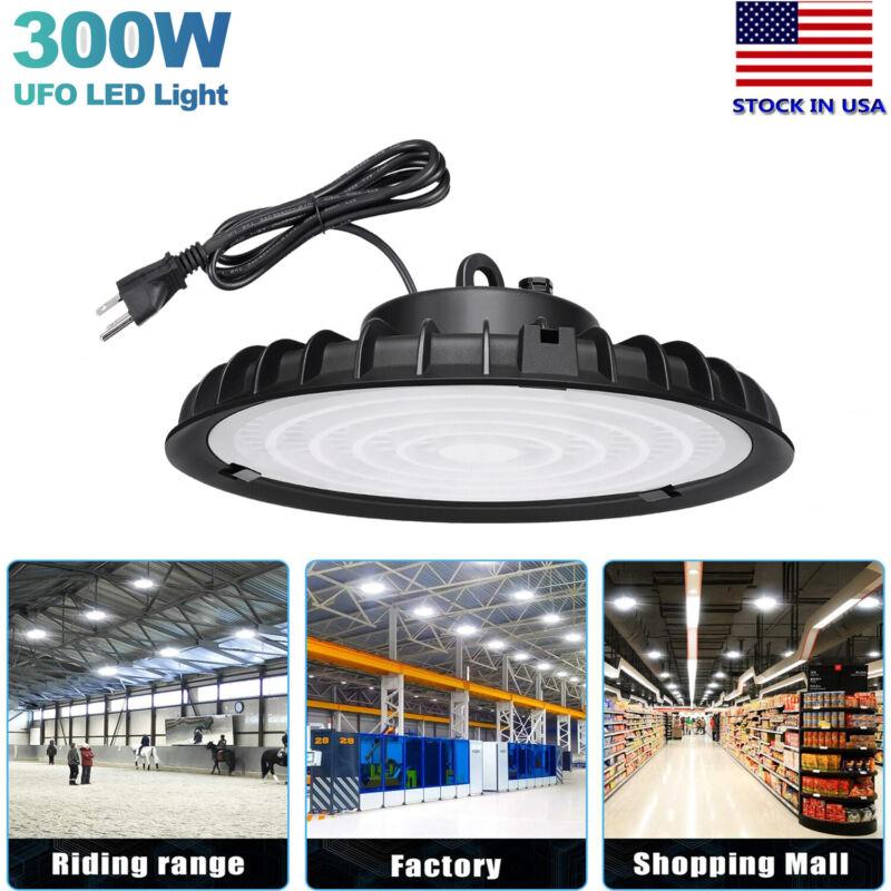 300W UFO LED High Bay Light Shop Work Warehouse Industrial Lighting 110V 6000K