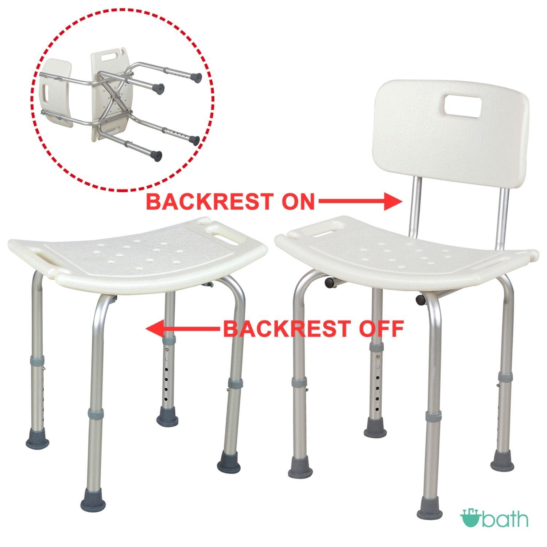 Adjustable Medical Shower Chair Bath Tub Seat Bench Stool Detachable ...