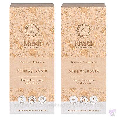 Khadi Natural Henna (Senna / Cassia) NEUTRAL Hair Colour 100g Pack of 2