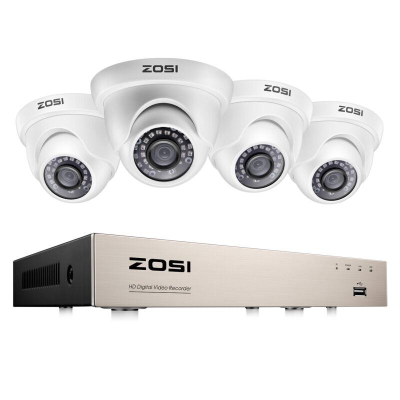 ZOSI H.265 8CH 5MP Lite DVR 1080P IR Night Vision Home Security Camera System US
