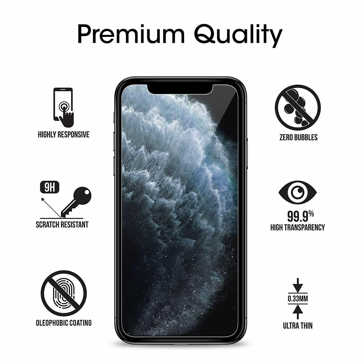 3-Pack Clear Tempered Glass Screen Protector Saver For Apple IPhone X / 10 5.8  - $4.99