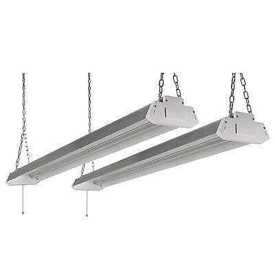 New Honeywell LED 4' Shop Lights (2-Pk) Silver Garage Work Light Fixture