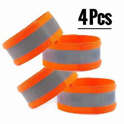 4 Pcs High Visibility Reflective Bands Safety Gear for Running Biking-RKHVBAND-4