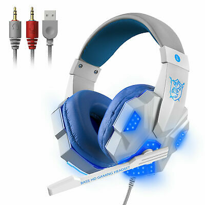 For PS4 PS5 Xbox Nintendo Switch PC 3.5mm  Headphones Mic LED Gaming Headset