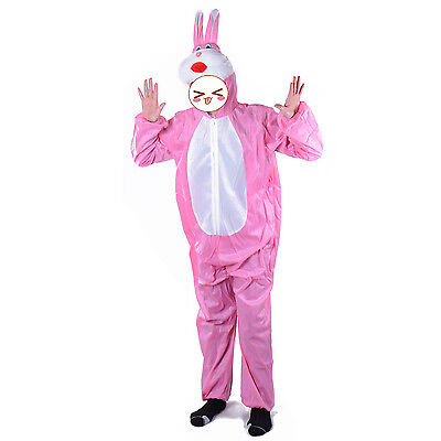 Adult Rabbit Costume Pink Bunny Suit Animal Costume Bunny Mascot  Fleece - Bunny Mascot Suit
