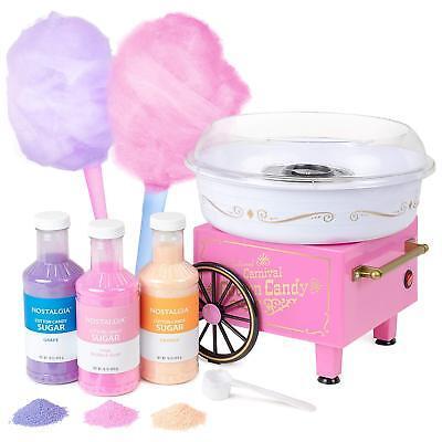 Nostalgia Pcm305bun Hard Sugar-free Hard Candy Cotton Candy Maker-free 3 Jars