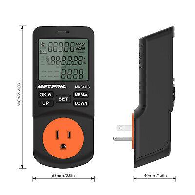 Digital Lcd Timer Socket Power Watt Meter Energy Monitor Electric Tester U4u1