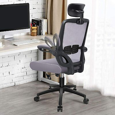 Office Chair Ergonomic Desk Mesh Computer Lumbar Support With Flit-up Arms