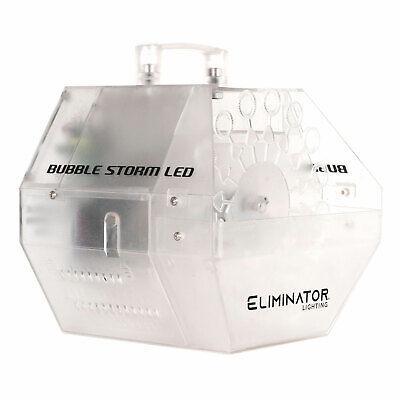 Eliminator Lighting Bubble Storm LED Portable Color Changing DJ Bubble Machine