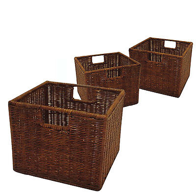 - Rattan Storage Baskets by Winsome | Set of 3 Small Wired Tightly RATTAN Woven