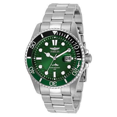 Invicta Men's Watch Pro Diver Quartz Green Dial Stainless Steel Bracelet 30808