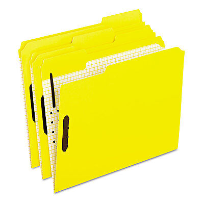 Pendaflex Colored Folders With Embossed Fasteners 13 Cut Letter Yellow 50box