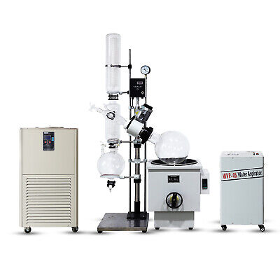 20l Industrial Rotary Evaporator Complete Turnkey W Water Vacuum Pump Chiller