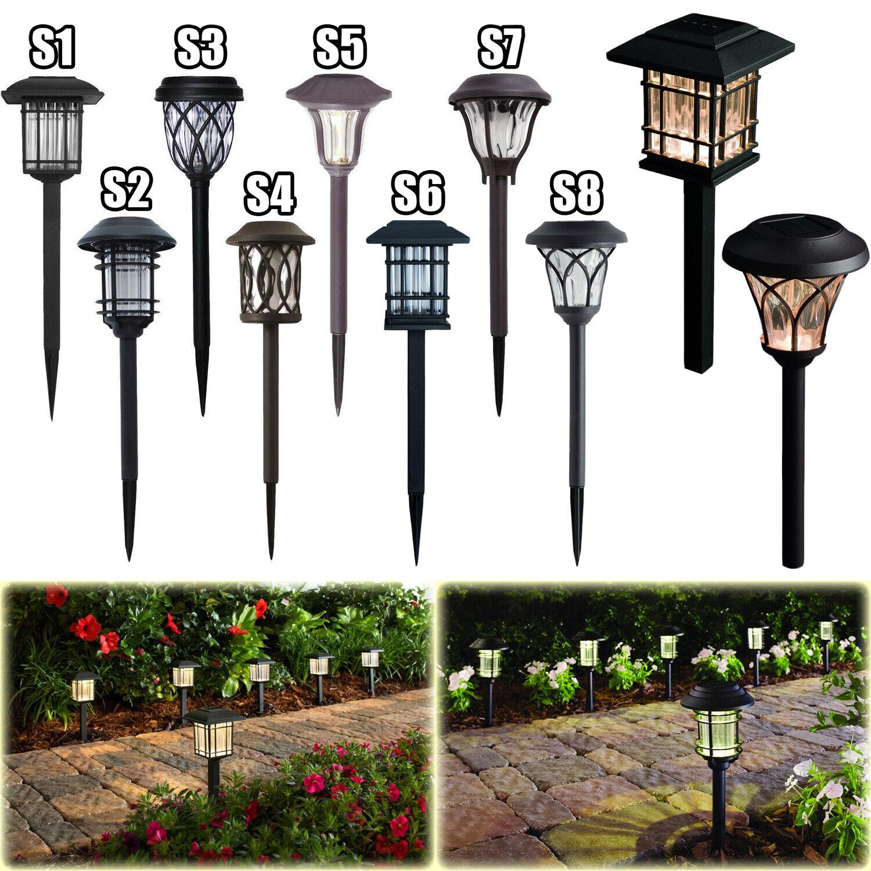 OUTDOOR SOLAR LED PATHWAY LIGHTS Walkway Garden Landscape Pa