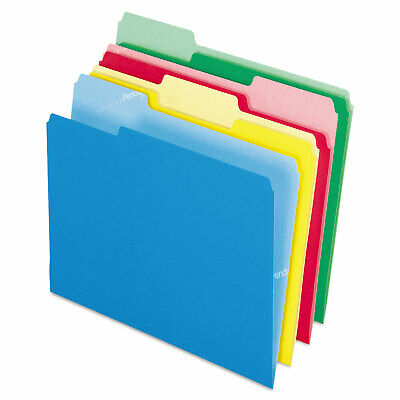 Pendaflex Cutless File Folders 13 Cut Top Tab Letter Assorted 100box 48440