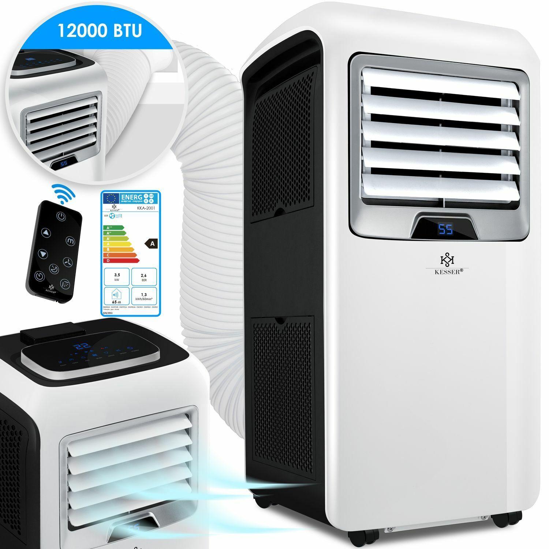 KESSER Mobile Klimaanlage 12000 BTU 3,5kW 4in1 Klimagerät Klima Ventilator EEK A