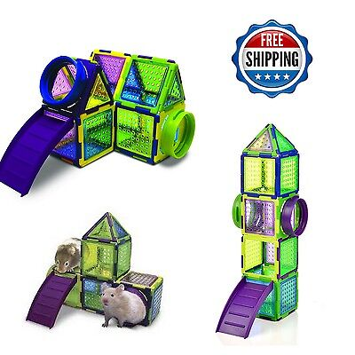 Hamster Playground Toy Puzzle Jungle Gym Exercise Fun Gerbil Mice Pet Supplies