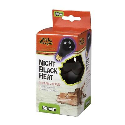 Zilla Reptile Terrarium Heat Lamps Incandescent Bulb, Night Black, -