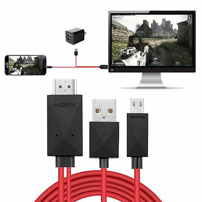 6.6ft 1080P MHL Micro USB to HDMI HD TV Cable Adapter for Samsung Android 11PIN for sale  Shipping to Nigeria