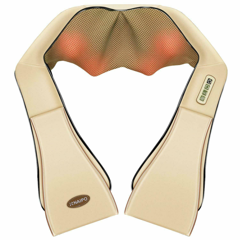NAIPO Massagekissen Shiatsu Massagegerät Massage für Schulter Nacken Rücken