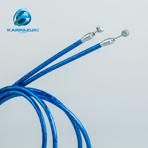 2 REAR BIKE BRAKE CABLE W/HOUSING ROAD OR MTB/ BLUE or RED.