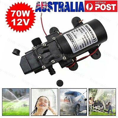 12v 6lmin 130psi Water High Pressure Diaphragm Self Priming Pump Automatic 70w