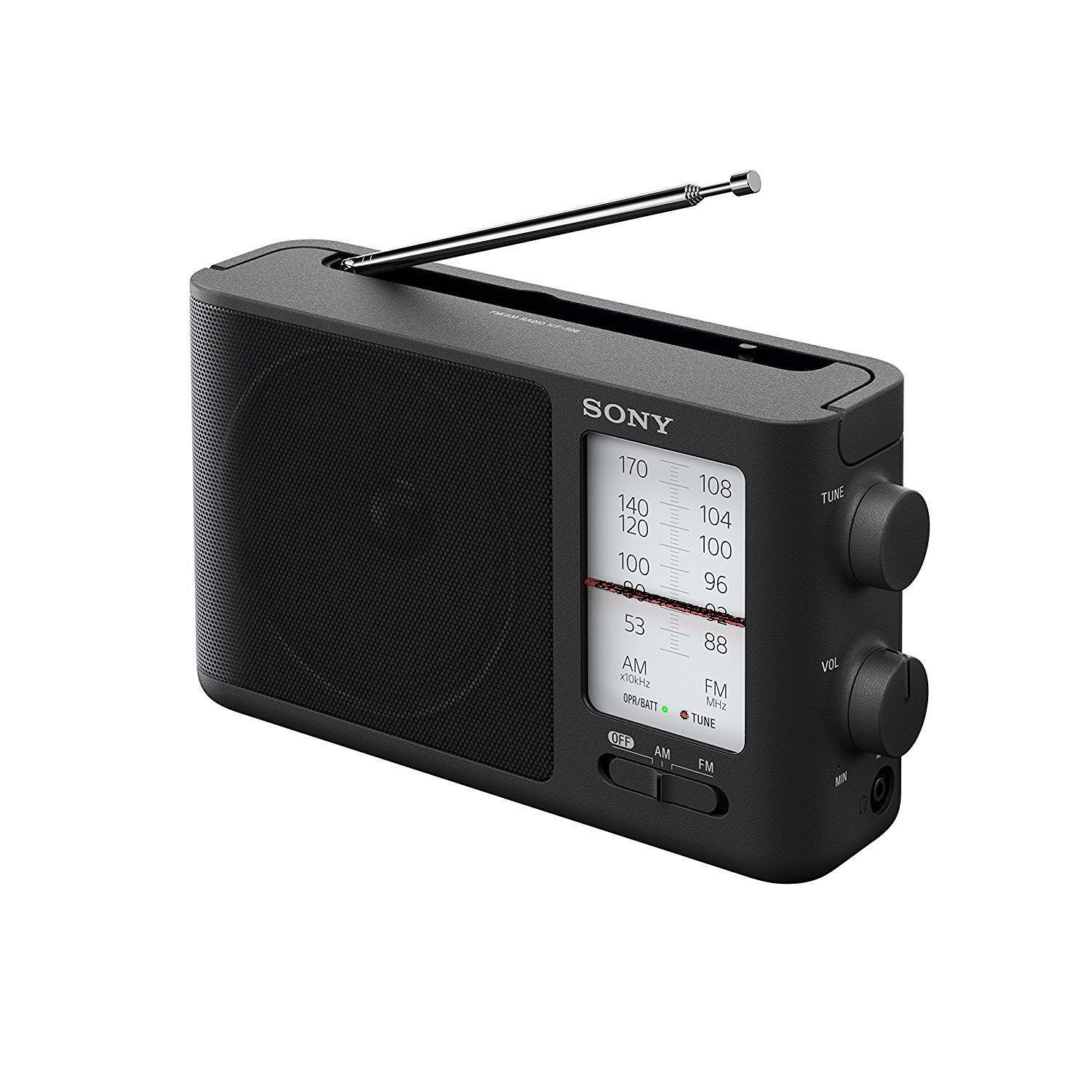 icf 506 analog tuning portable fm am
