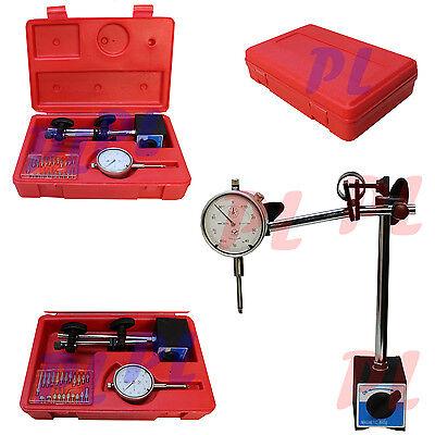 1 Dial Indicator W Magnetic Base Holder Fine .001 Graudation 22 Point Set