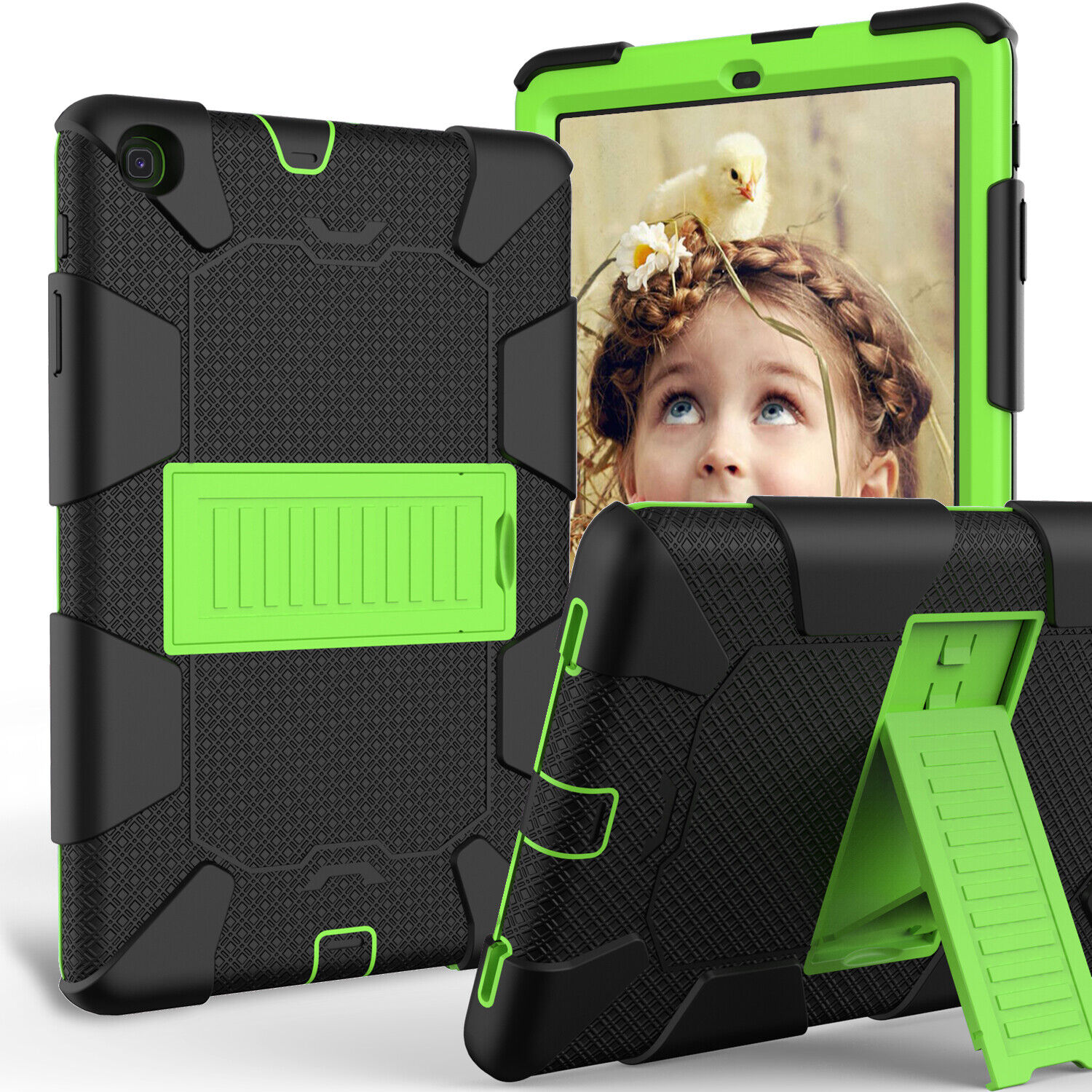 For Samsung Galaxy Tab A 10.1 SMT510 T515 2019 Shockproof Armor Stand Case