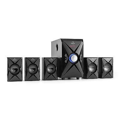 Home Theatre 5.1 Cinema Sistema Audio Porta USB SD Display LED Subwoofer 100W