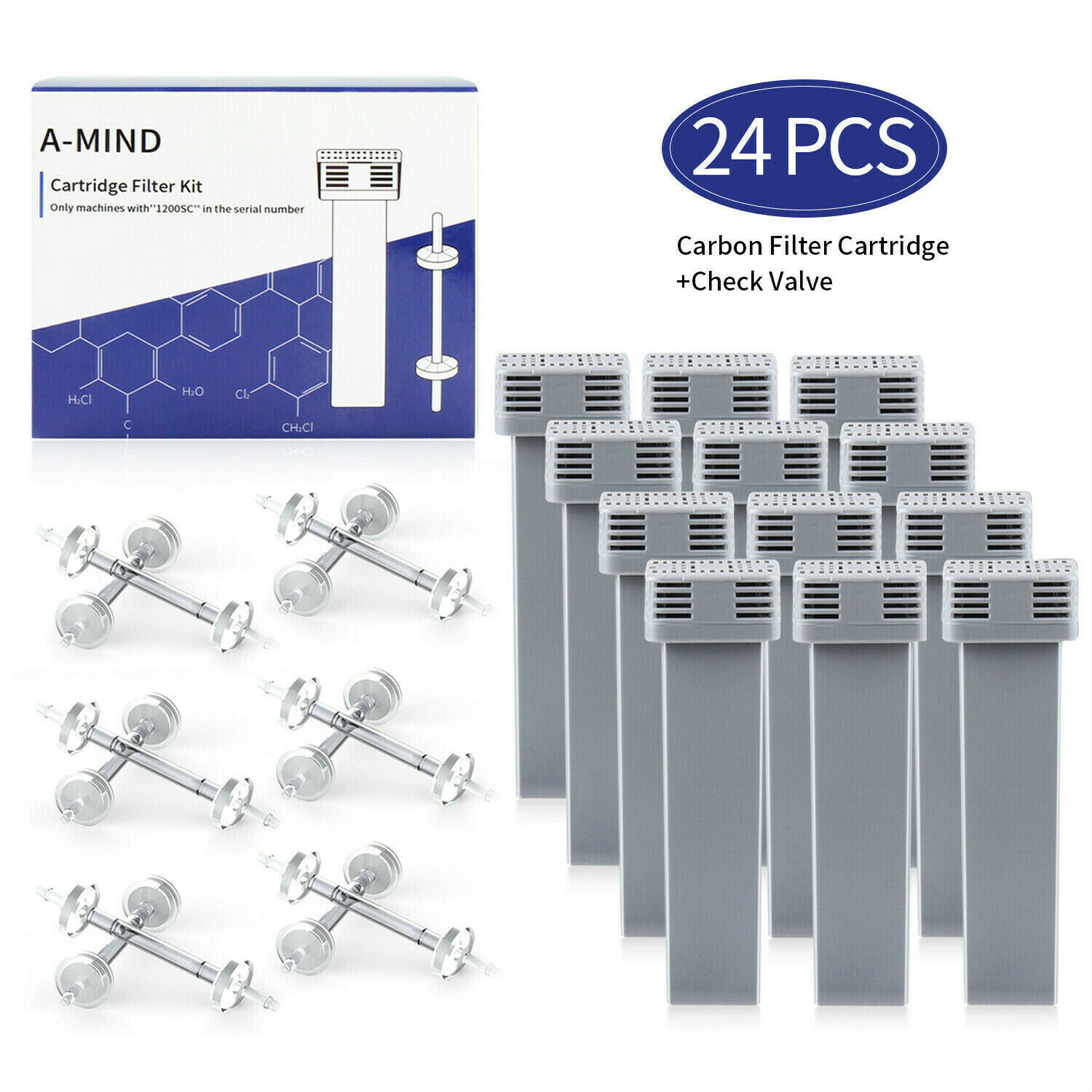 4PACK CPAP Check Valve For Soclean 2 Cartridge Filter Kit Re