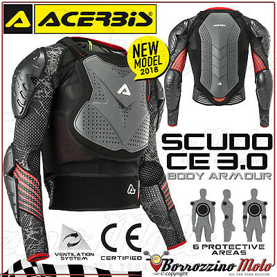 Chest Armour Complete Acerbis Shield Ce 3.0 Body Armour Motorcycle cross Enduro