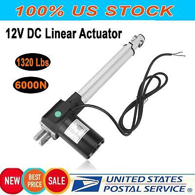 12v Dc Electric Motor Linear Actuator 6000n 1320 Lbs Max Lift Heavy Duty 500mm