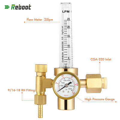 Co2 Flowmeter Copper Welding Regulator Gas Valve Mig Welding Accessory Cga320
