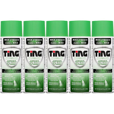 Lot of 5 Cans of Ting AF Antifungal Spray Powder for Athlete's Foot & Jock Itch Antifungal Foot Powder