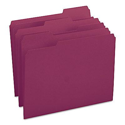 Smead File Folders 1/3 Cut Top Tab Letter Maroon 100/Box 13093