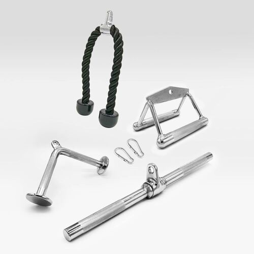 Vitos Combo Cable Attachments Tricep Press Pull Down Multi-Option Double Handle