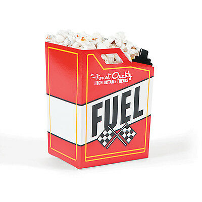 Cars Party Favor Boxes (12 FUEL Racing Race Car Gas Can Popcorn Boxes Nascar Party Favor loot treat)